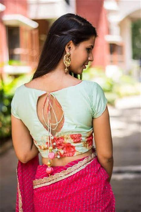 latest plain saree blouse designs collection