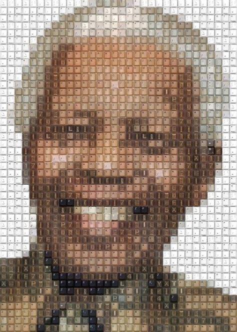 pixelated tribute art mandela tribute