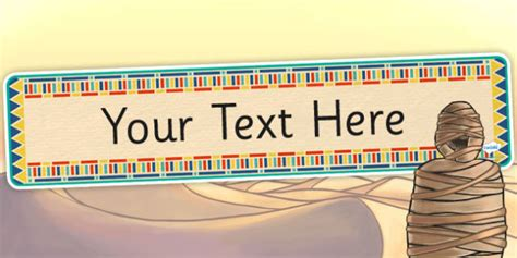 ancient egyptian themed editable banner template egypt