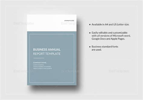 annual report samples  ms word  pages