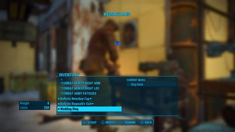 modifiable wedding rings at fallout 4 nexus mods and