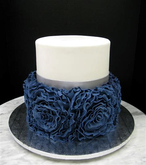 navy blue ruffle rose mother mousse