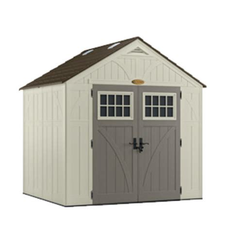 menards resin storage sheds suncast tremont 174 8 x 7 storage building at menards 174