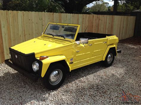 volkswagen thing yellow 1974 vw thing bright yellow 2014 1