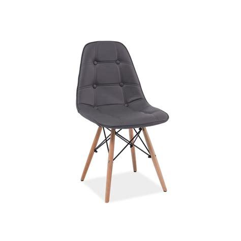 composer sa cuisine chaise scandinave dsw axel aspect boutonné en simili cuir