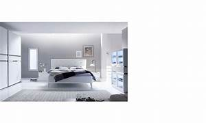 chambre adulte design laque blanc et chrome arla With chambre adulte design blanc