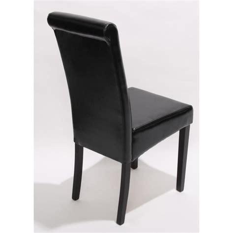 lot de 2 chaises de s 233 jour novara ii cuir noir pieds fonc 233 s achat vente chaise salle a