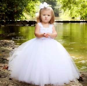 white flower girl dress tulle dress wedding dress birthday With white toddler dress for wedding