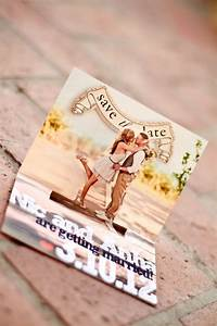 super cute save the date from pinterest wheres it from With diy pop up wedding invitations