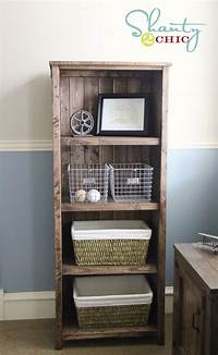 great rustic wood bookcases DIY Kentwood Bookcase - Shanty 2 Chic
