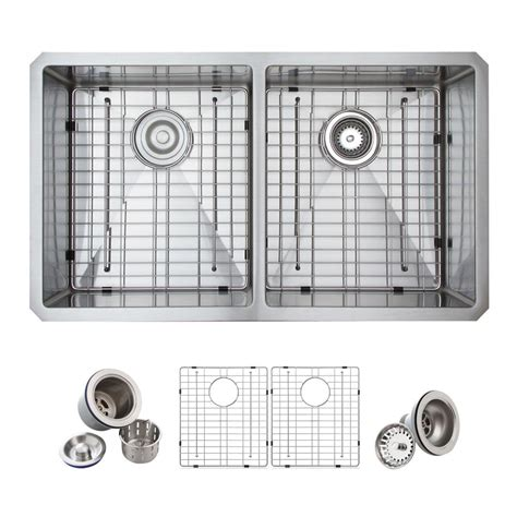 glacier bay kitchen cabinets glacier bay all in one undermount stainless steel 33 in