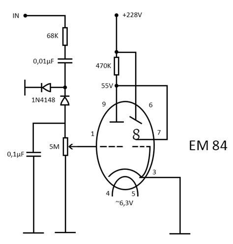 vu meter with em84 antimath