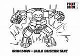 Hulk Coloring Lego Iron Hulkbuster Avengers Buster Colouring Marvel Printable Brick Colorare Da Disegni Ironman Point Elves Ed Template Superhero sketch template