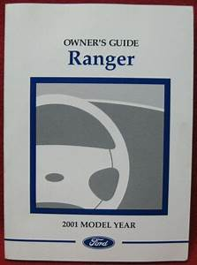 2001 Ford Ranger Owners Manual
