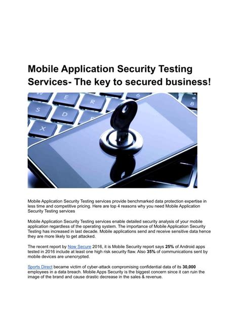 mobile security testing ppt mobile application security testing services