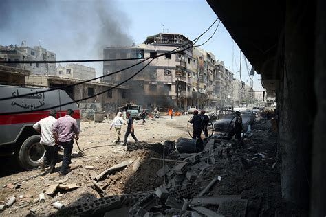 siege air air strikes on syria 39 s rebel held areas continue al
