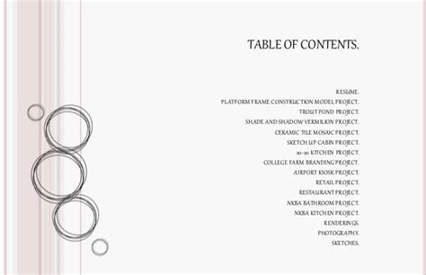 11439 architecture portfolio table of contents architecture portfolio table of contents portfolio table