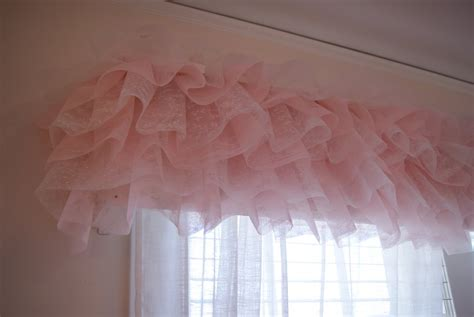 Pink Ruffle Curtain Topper by Nest Of Eggs 11 Ideas House