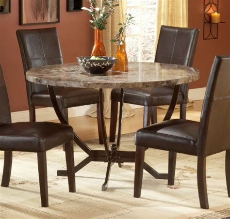 marble top kitchen table hillsdale monaco faux marble top dining table with