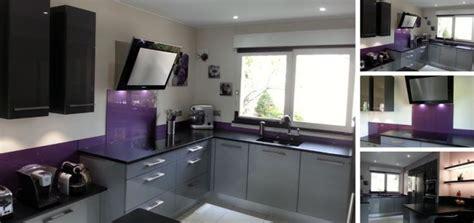 cuisine violet couleur credence cuisine violet crédences cuisine