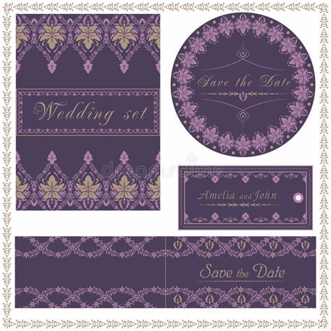 Wedding Invitation Cards And Tag Wedding Set Red Flowers