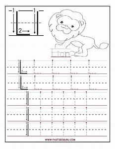 printable letter l tracing worksheets for preschool With preschool traceable letters