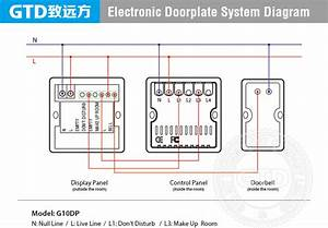 Hotel Electronic Doorplate With Room Number  Do Not Disturb  Clean Up  Touch Control