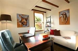 Schreibtisch Wohnzimmer Lösung : 50 wohnideen f r leiterregal und dekoartikel ~ Markanthonyermac.com Haus und Dekorationen