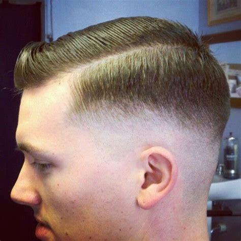 razor fade side part slick barbershops pinterest