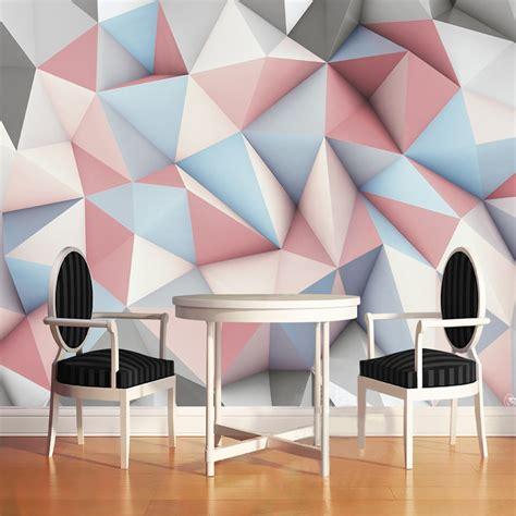 modern simple  stereo geometric mural wallpaper