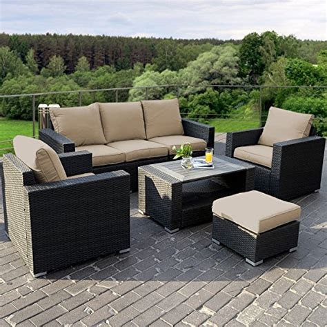 giantex 7pc outdoor patio patio sectional furniture pe