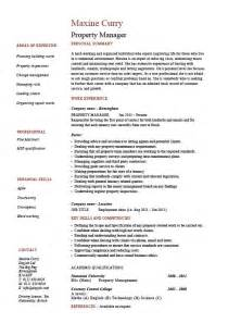 property management resume exles property manager resume exle sle template description facilities duties rent cv