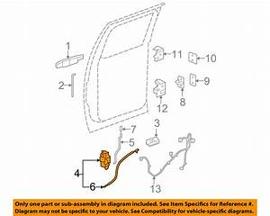 Gm Oem Rear Door  Motor 25876393