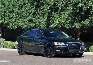 "2009 Audi A8 with 22"" Giovanna Kilis in Matte Black wheels ..."
