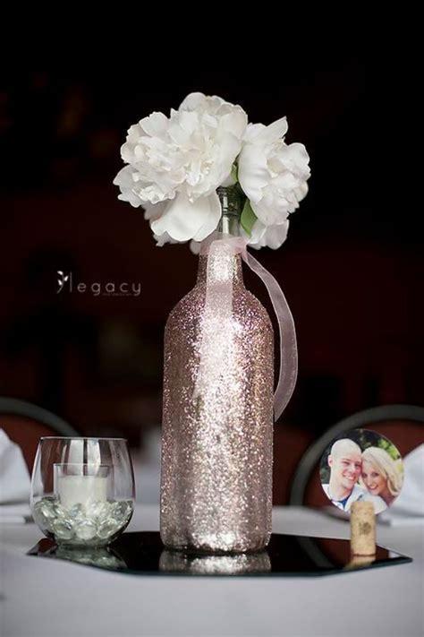 decorative wine bottles for wedding 25 best ideas about glitter centerpieces on