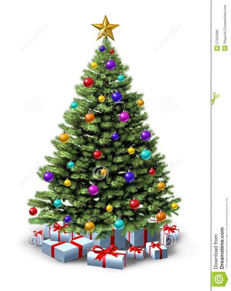 193 rbol de navidad adornado imagen de archivo libre de