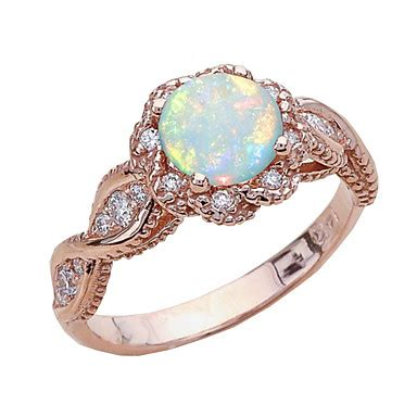 women s opal hollow out band ring ring rose gold plated number statement stylish european trendy