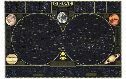 Map Maps Constellation Geographic National Heaven Sky