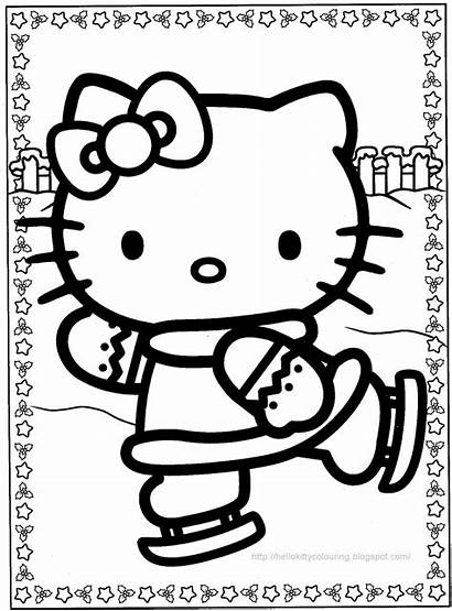 Kitty Hello Christmas Coloring Pages Activity