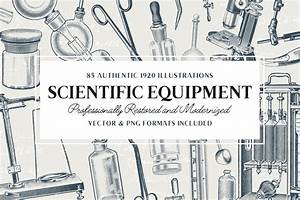 85 Science Equipment Illustrations