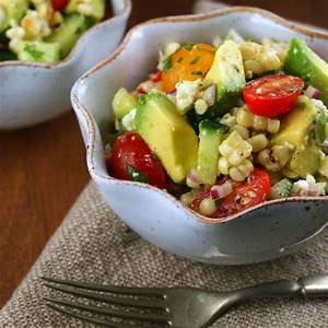 Grilled Corn and Avocado Salad with Cilantro Vinagrette