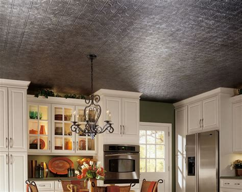 armstrong kitchen ceiling tiles tintile tin look collection tin metal paintable 12 quot x 12 7506