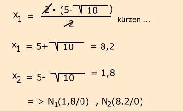 ganzrationalen funktionen vereinfachte kurvendiskussion