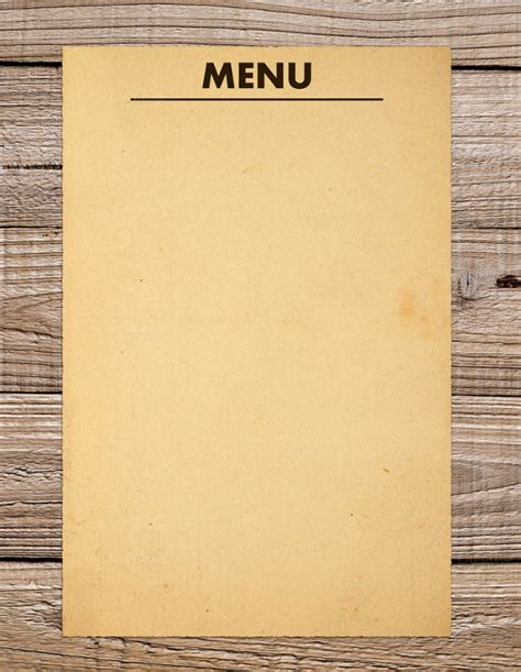 Empty Menu Templates 36 blank menu templates free sle exle format