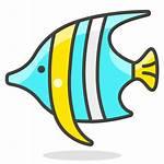 Fish Icon Emoji Cartoon Tropical Vis Clipart