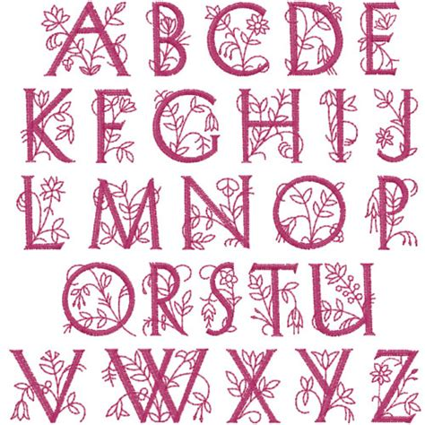 dainty floral  embroidery patterns home format fonts  embroiderydesignscom
