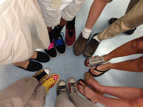 different colored two different colored shoes day yuneoh events