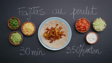 recette de cuisine en photo fajitas au poulet cuisine futée parents pressés zone