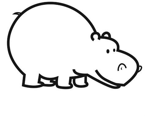 ausmalbild tiere nilpferd kostenlos ausdrucken