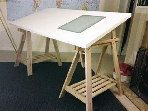 drawing desk with lightbox trestle table desk drawing board with light box window